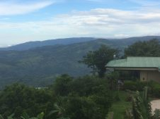 view from our finca to main house